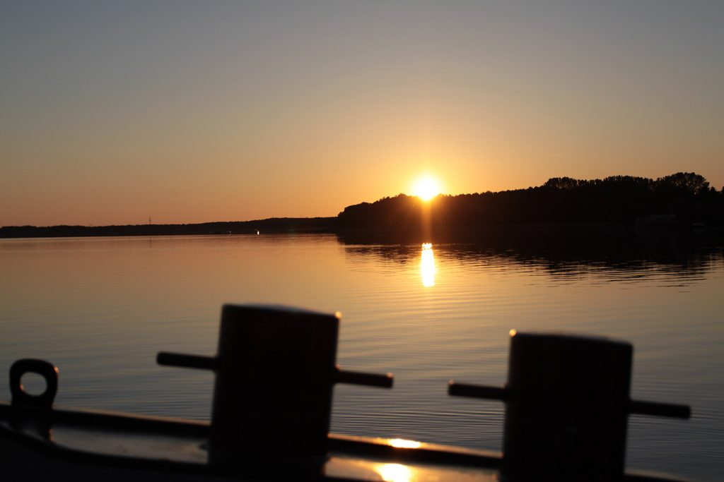 Sonnenuntergang in Himmelpfort am Stolpsee
