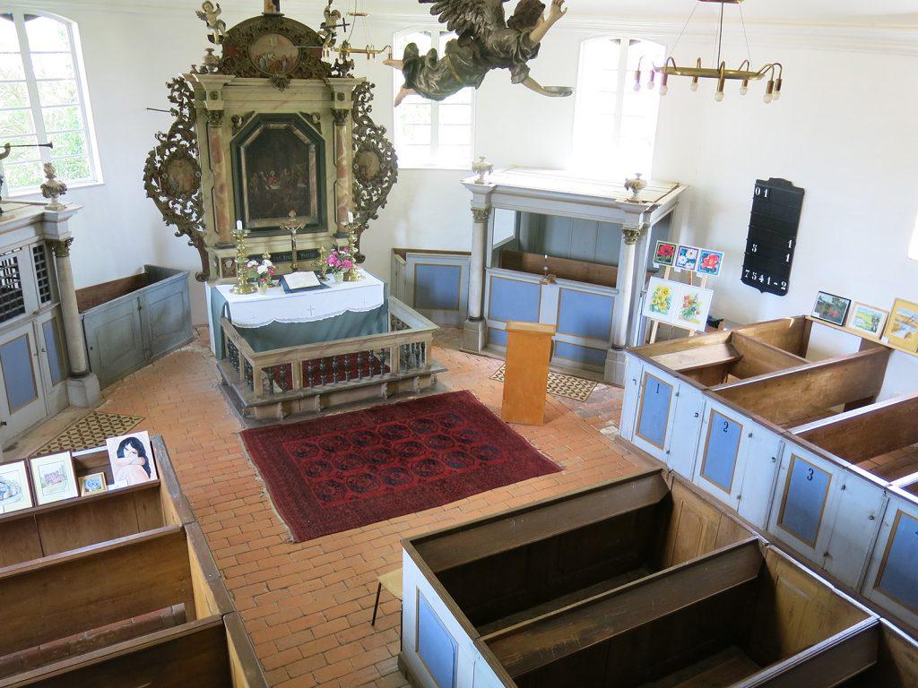 Das Innere der Kirche von Priepert