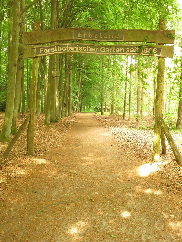 Eingang zum Arboretum «Erbsland»