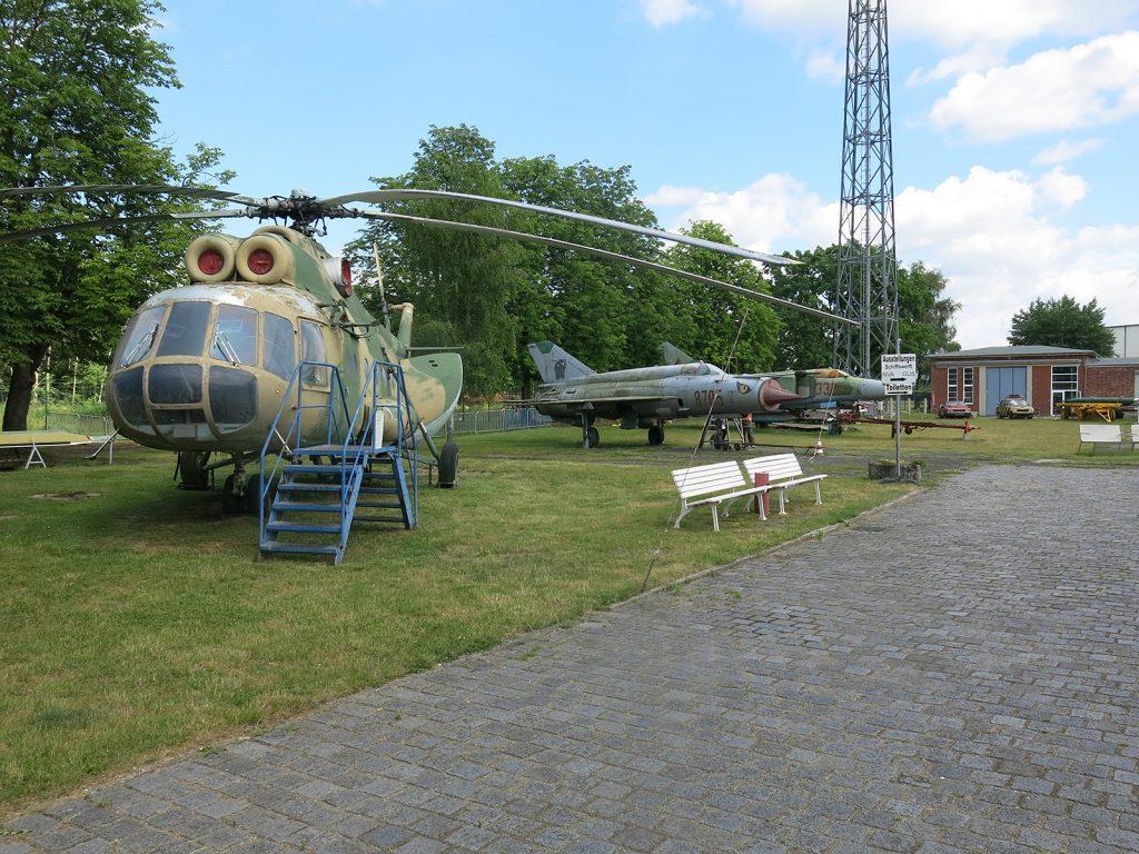 Der Freiluftteil des Luftfahrtmuseums Rechlin
