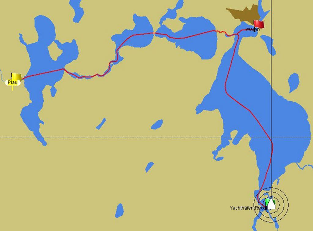 Von Waren nach Plau am See und zurück nach Rechlin