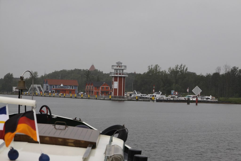 Die Einfahrt von Plau am See