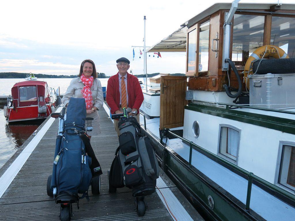 Arthur und Gerlinde, begeisterte Golfer