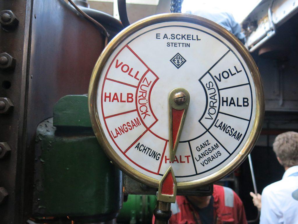Der Maschinentelegraf der «Elbe»