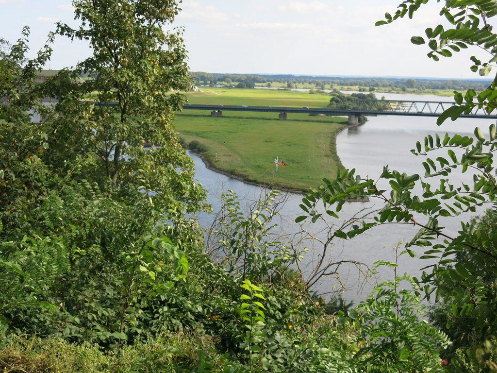 Einmündung des Elbe-Lübeck-Kanals in die Elbe bei Lauenburg