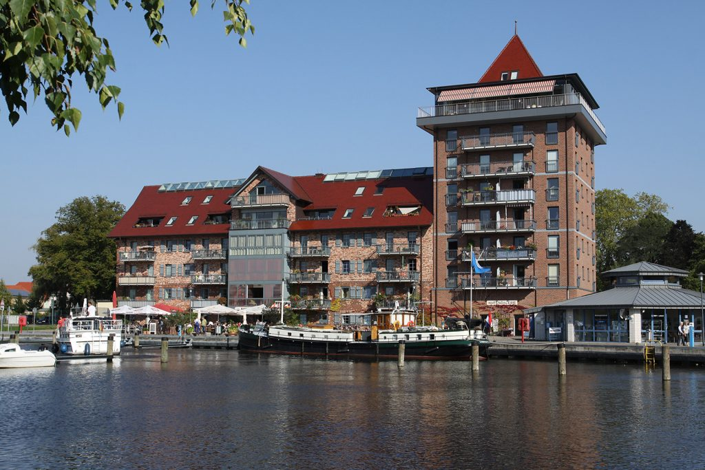 Der Stadthafen von Neustrelitz
