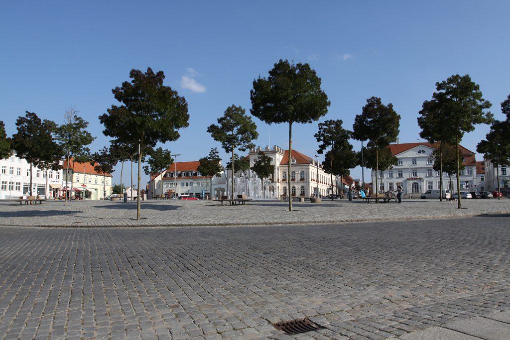 Der Marktplatz von Neustrelitz