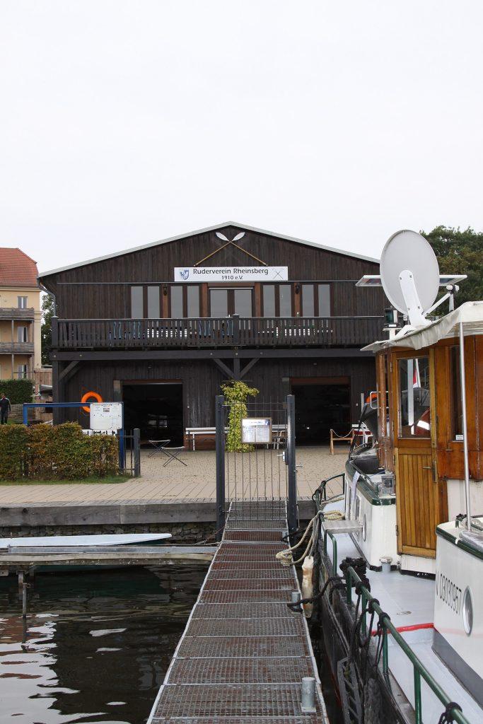 Der Gastanleger des Rudervereins Rheinsberg 1910 e.V.