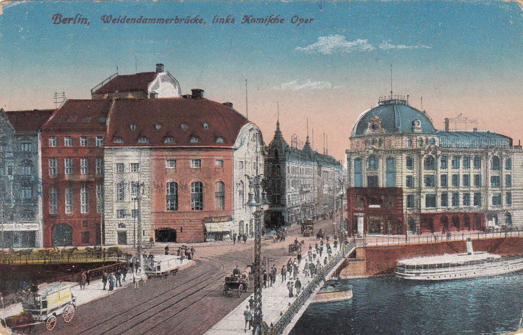 Die Weidendammerbrücke damals