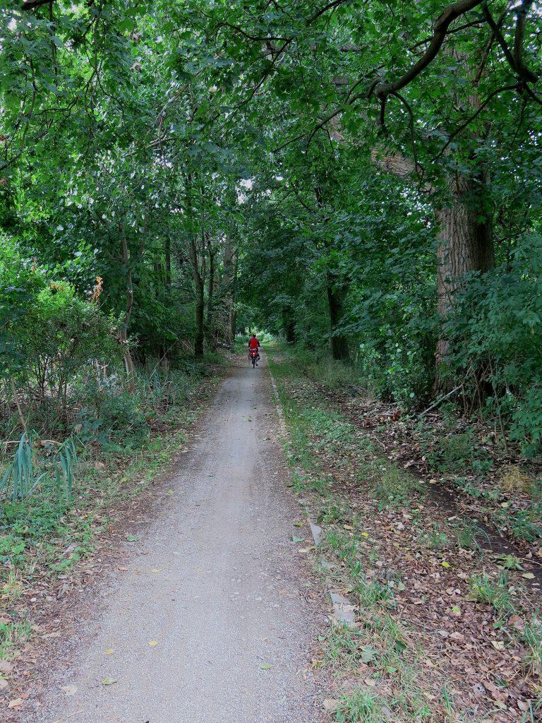 Radweg entlang dem Nottekanal