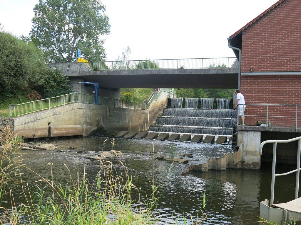 Kaskadenwehr in Märkisch-Buchholz am Dahme Umflutkanal