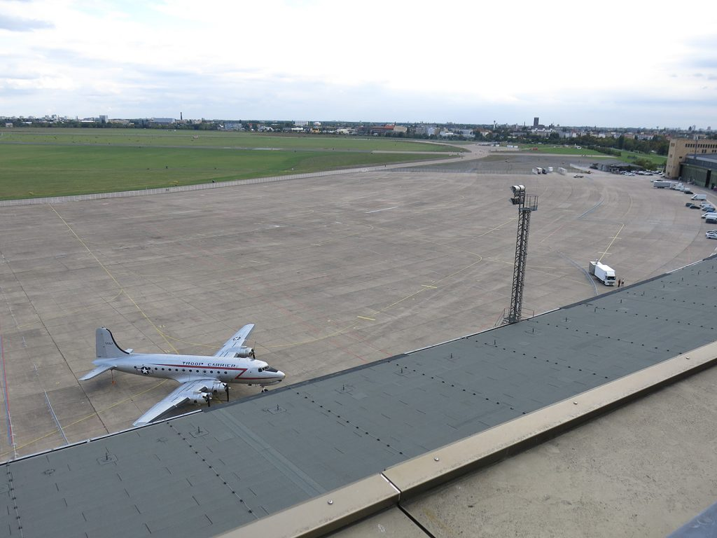 Das Rollfeld des Flughafens Tempelhof