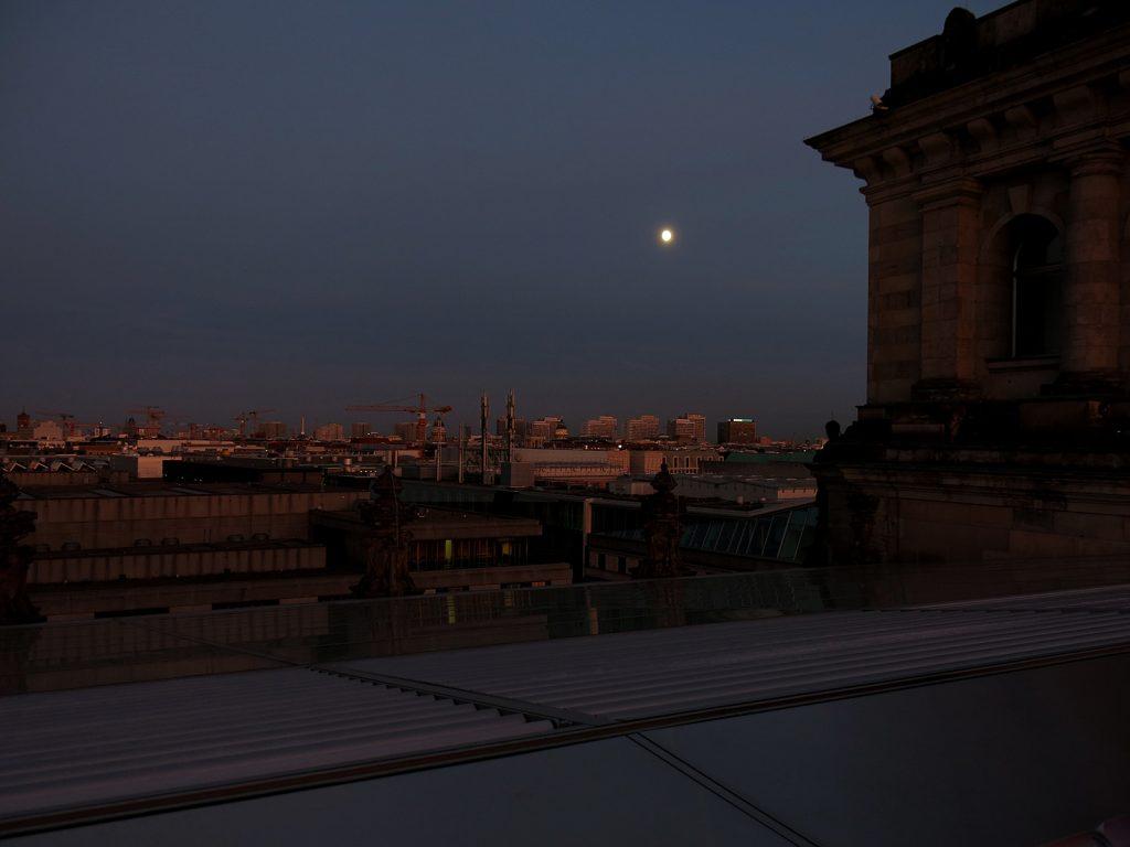 Auf dem Dach des Reichstagsgebäudes
