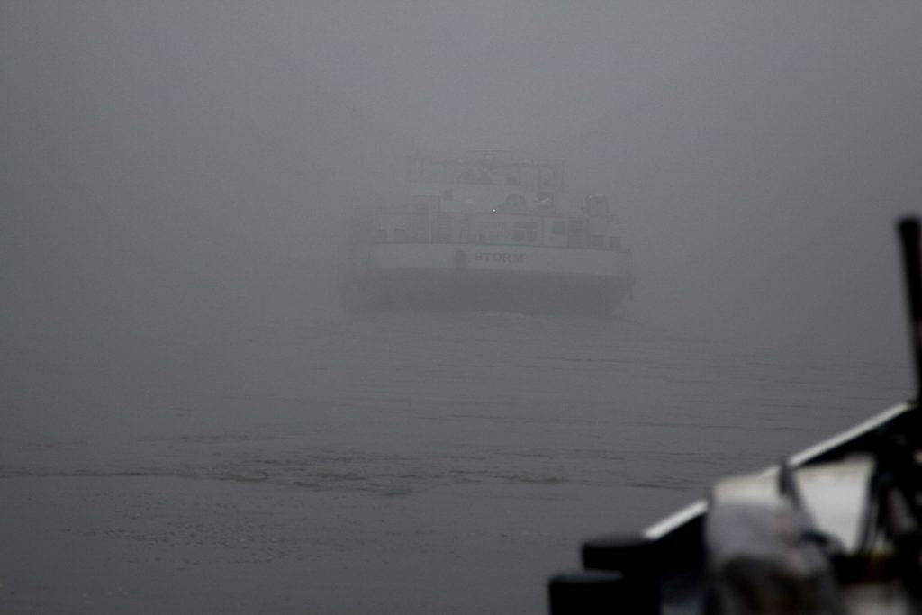 Gespensterschiff im Nebel