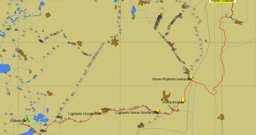 Route von Weener nach Vollenhove (PC Navigo©)