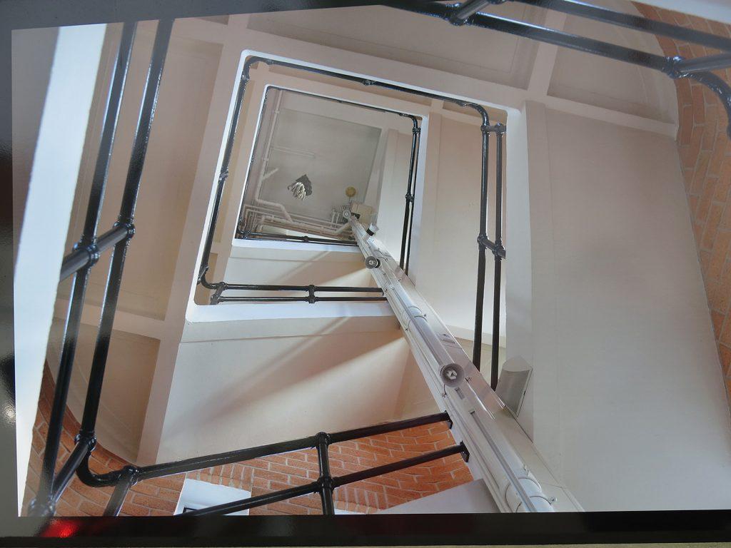 ... und der Aufstieg zum Hotelzimmer