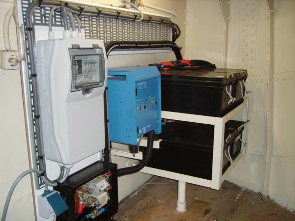 Inverter and batteries